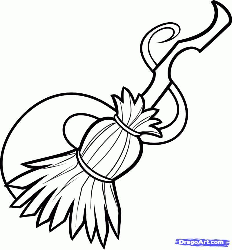 Рисуем метлу ведьмы - шаг 6