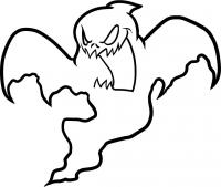 Фото призрака на Хэллоуин карандашом