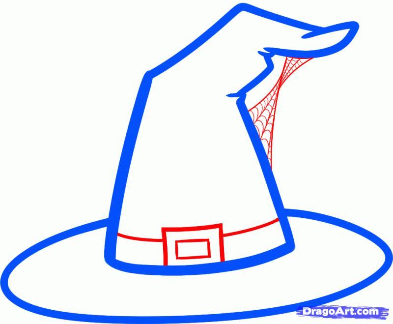 Рисуем шляпу ведьмы - шаг 3