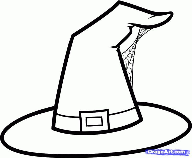 Рисуем шляпу ведьмы - шаг 4