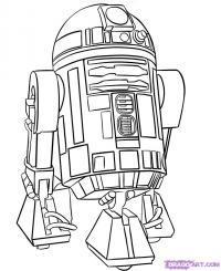 Эр-два-дэ-два (R2-D2)  карандашом