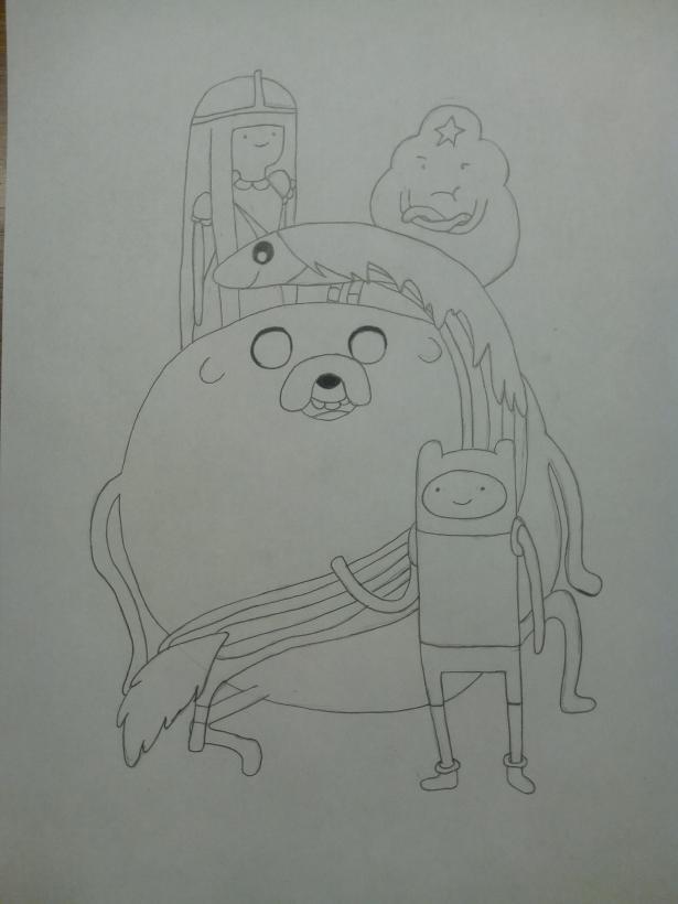 Джейк рисунки карандашом