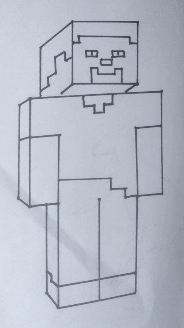 рисуем мобов из майнкрафт поэтапно #8